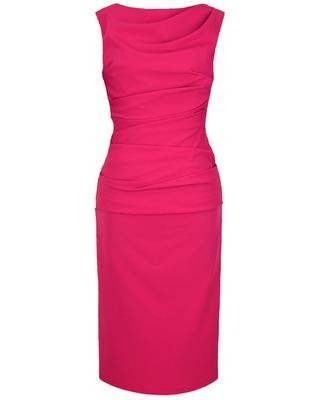 Wąska elegancka wyszczuplająca sukienka CAMILL 147 MIDI 9