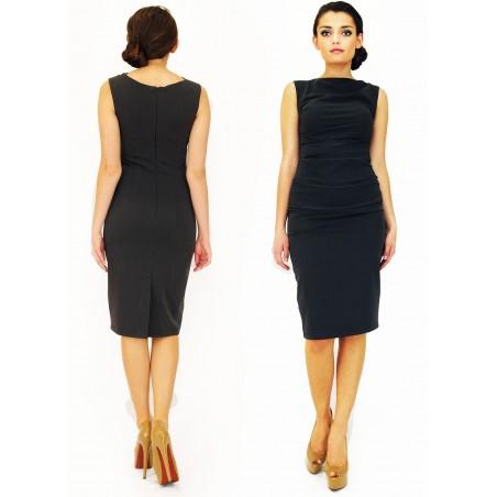 Wąska elegancka wyszczuplająca sukienka CAMILL 147 MIDI