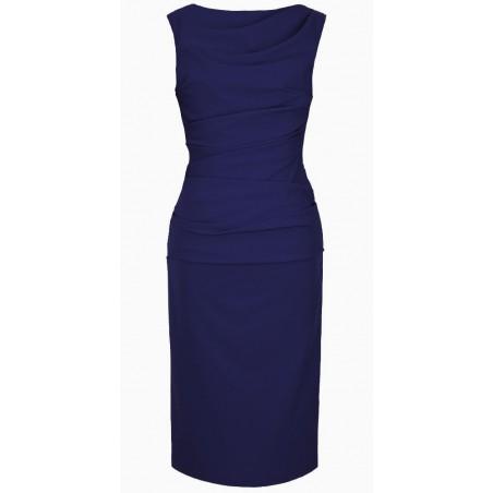 Wąska elegancka wyszczuplająca sukienka CAMILL 147 MIDI 10