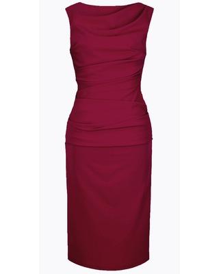 Wąska elegancka wyszczuplająca sukienka CAMILL 147 MIDI 12