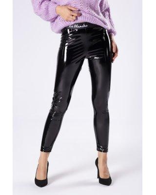 lakierowane spodnie o...