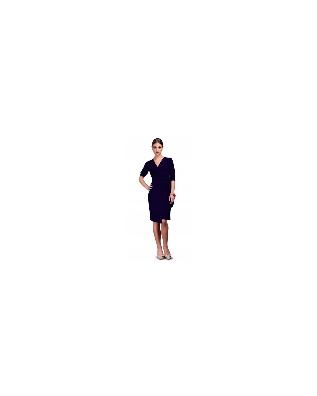 Kopertowa sukienka z  dekoltem w serek CAMILL 109 3