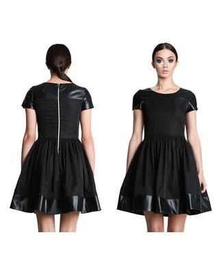 Rozkloszowana sukienka z rękawkiem CAMILL 244 1