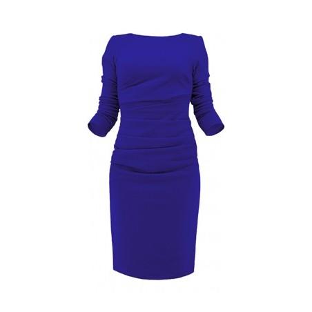 Czarna wąska wyszczuplająca sukienka z rękawem Camill 178