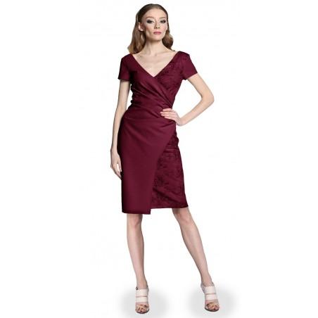 Wyszczuplająca kopertowa koronkowa sukienka CAMILL 296 4