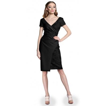 Wyszczuplająca kopertowa koronkowa sukienka CAMILL 296 5