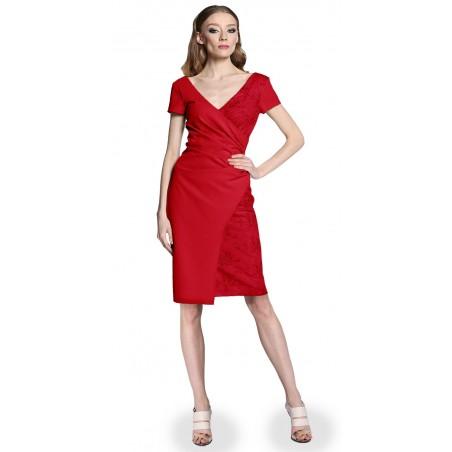 Wyszczuplająca kopertowa koronkowa sukienka CAMILL 296 6