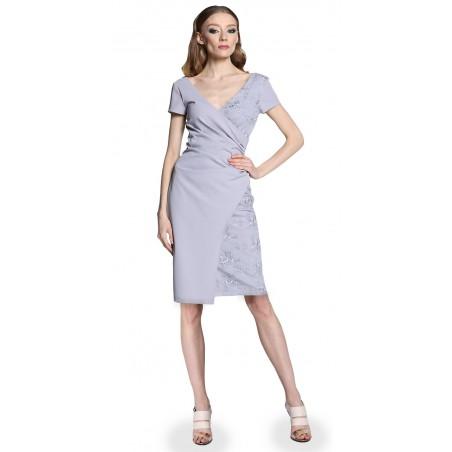 Wyszczuplająca kopertowa koronkowa sukienka CAMILL 296 7