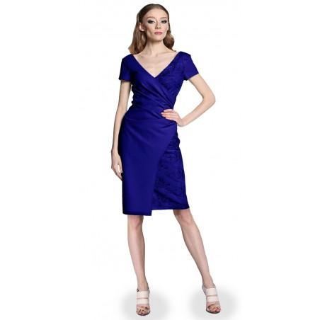 Wyszczuplająca kopertowa koronkowa sukienka CAMILL 296 8