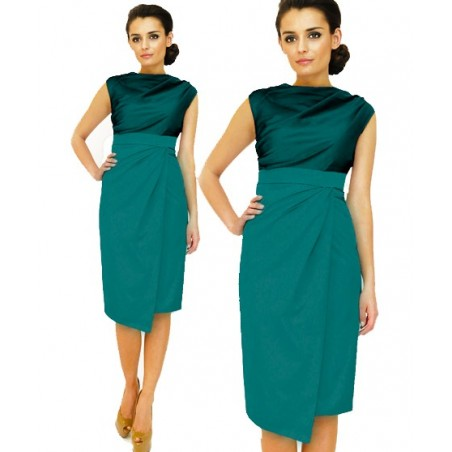 Kopertowa wizytowa sukienka CAMILL 146 3