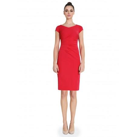 Drapowana prosta sukienka CAMILL 269 1