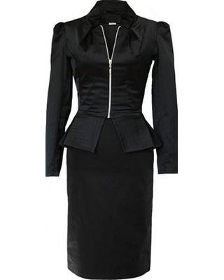 Elegancki czarny komplet na każdą okazję CAMILL 065