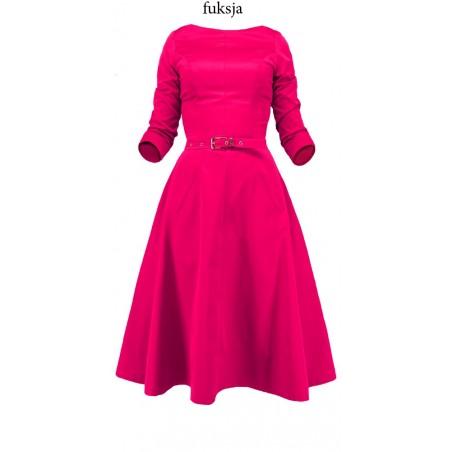 Rozkloszowana sukienka z rękawem CAMILL 164 6