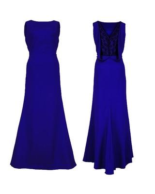 Długa wieczorowa suknia z koronką na plecach CAMILL 192