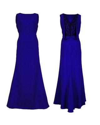 Długa wieczorowa suknia z koronką na plecach CAMILL 192 4