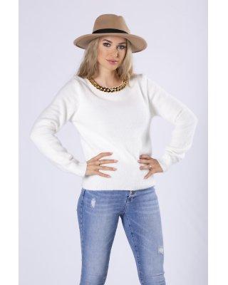 futerkowy sweter z...