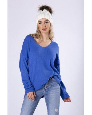 dzianinowy sweter z...