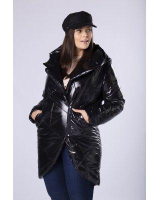 pikowana kurtka z kapturem,...