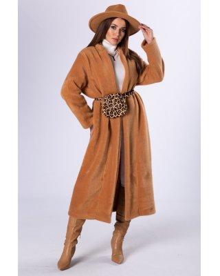 futerkowy płaszcz o...
