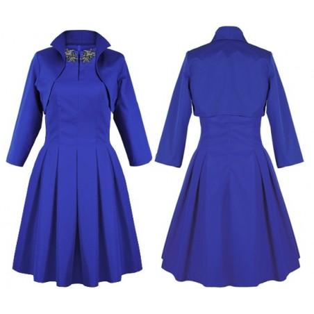 Koktajlowa sukienka z bolerkiem CAMILL 203K