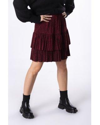brokatowa spódnica mini z...