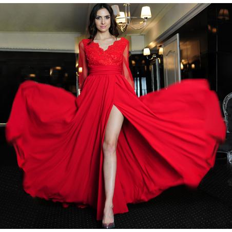 Koronkowa suknia wieczorowa...
