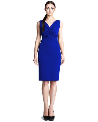 Ołówkowa sukienka z kopertowym dekoltem CAMILL 242 5