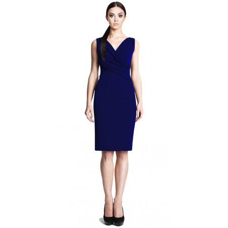 Ołówkowa sukienka z kopertowym dekoltem CAMILL 242