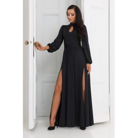 Błyszcząca brokatowa suknia...