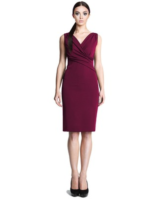 Ołówkowa sukienka z kopertowym dekoltem CAMILL 242 8