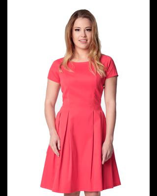 Klasyczna malinowa sukienka...