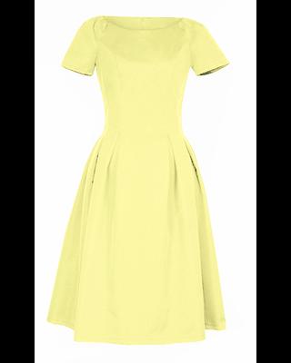Żółta sukienka w...
