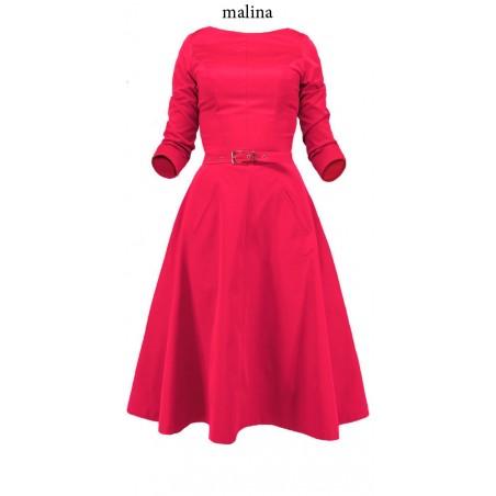 Rozkloszowana sukienka z rękawem CAMILL 164 7