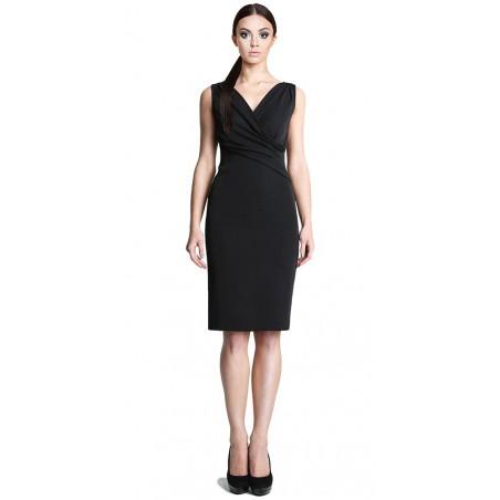 Ołówkowa sukienka z kopertowym dekoltem CAMILL 242 3