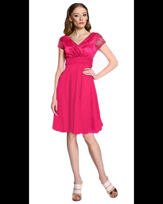 Koronkowa różowa sukienka...