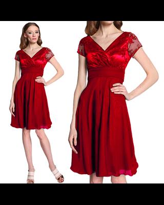 Czerwona Koronkowa sukienka...