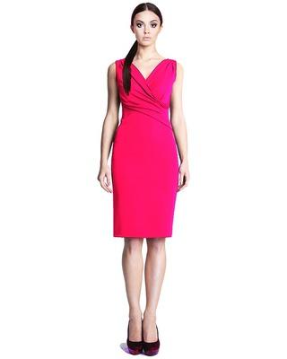 Ołówkowa sukienka z kopertowym dekoltem CAMILL 242 7