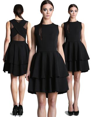 Czarna sukienka na wesele z...
