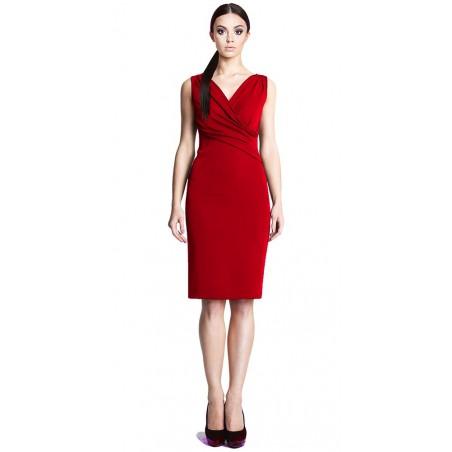 Ołówkowa sukienka z kopertowym dekoltem CAMILL 242 2