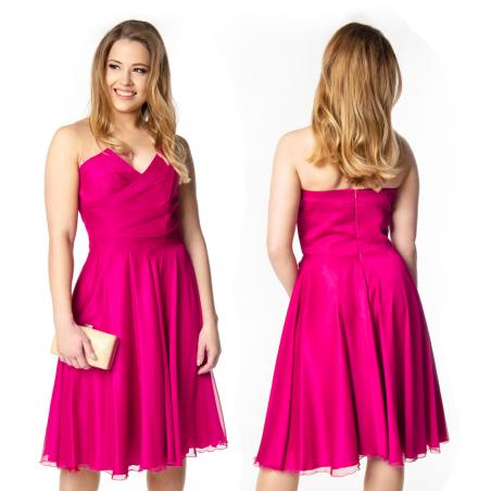 Zwiewna gorsetowa sukienka...