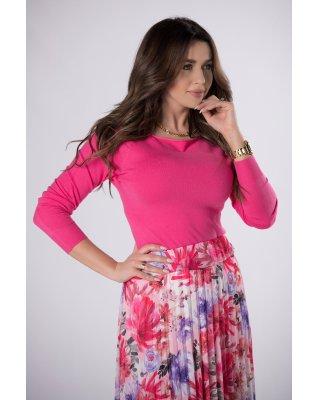 dopasowany sweter różowy