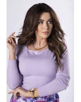 dopasowany sweter fioletowy