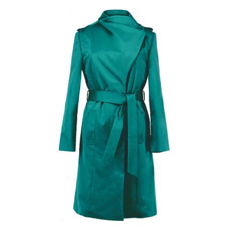 Zielony przejściowy płaszcz...