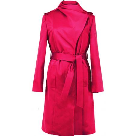 Różowy przejściowy płaszcz...