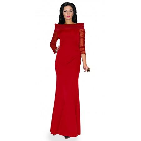 Czerwona suknia wieczorowa...
