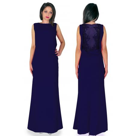 Granatowa suknia syrenka z...