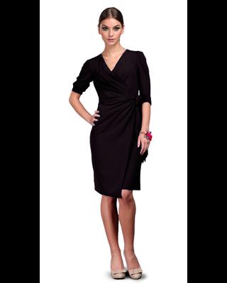 Czarna kopertowa sukienka...