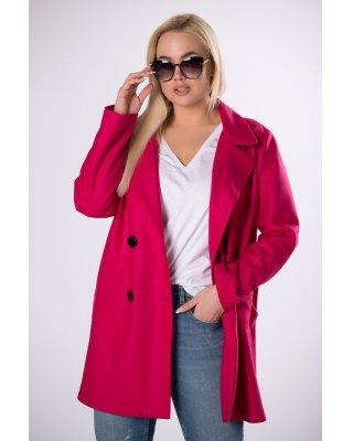 dwurzędowy płaszcz różowy