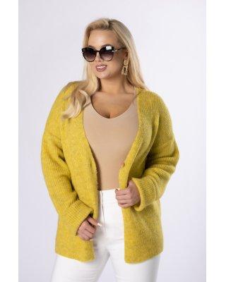 sweter z dwurzędowym...