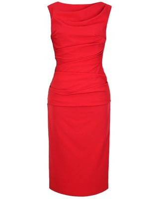 Wąska elegancka wyszczuplająca sukienka CAMILL 147 MIDI 4